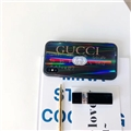 Unique Gucci Marble Aurora Laser Skin Glass Covers Protective Back Cases For iPhone XS - Black