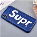 Unique LV Supreme Shell Matte Covers Protective Back Cases For iPhone XS - Blue