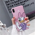 Classic Daisy Cartoon Skin Matte Covers Protective Back Cases For iPhone XS Max - Pink