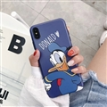 Classic Donald Duck Cartoon Skin Matte Covers Protective Back Cases For iPhone XS Max - Blue