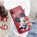 Classic Mickey Cartoon Skin Matte Covers Protective Back Cases For iPhone XS Max - Red