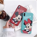 Classic Minnie Cartoon Skin Matte Covers Protective Back Cases For iPhone XS Max - Green