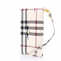 Burberry Envelope Flip Leather Cases Button Book Genuine Holster Cover For iPhone X - Beige
