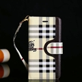 Burberry Strap Flip Leather Cases Button Book Genuine Holster Cover For iPhone X - Beige