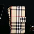 Classic Burberry Lattice Plaid Flip Leather Covers Folder Holster Cases For iPhone X - Brown