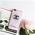 Classic Chanel Blue Light Mirror Surface Silicone Glass Covers Protective Back Cases For iPhone X - Pink