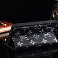 Classic LV Big Flower Bracket Leather Holder Covers Support Cases For iPhone X - Black