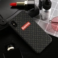 Classic LV Flower Shell Matte Covers Protective Back Cases For iPhone X - Black