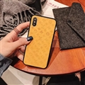 Classic LV Flower Skin Matte Covers Protective Back Cases For iPhone X - Yellow