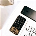 Classic LV Shell Silicone Cases For iPhone X Acrylic Lanyard Mirror Covers - Black