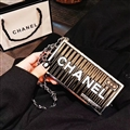 High-grade Chanel Container Hanging Rope Cover Chain Electroplate Cases for iPhone X - Black