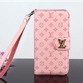 LV Flower Strap Flip Leather Cases Litchi Grain Holster Cover For iPhone X - Pink