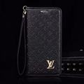 LV Flower Strap Flip Leather Cases Shells Grain Holster Cover For iPhone X - Black