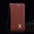 LV Flower Strap Flip Leather Cases Shells Grain Holster Cover For iPhone X - Brown