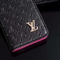 LV Flower Strap Flip Leather Cases Shells Grain Holster Cover For iPhone X - Rose