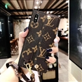 New Shell LV Flower Leather Back Covers Holster Cases For iPhone X - Brown