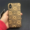Personalized Versace Leather Pattern Cases Hard Back Covers for iPhone X - Yellow