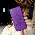 Retro Skin Casing Chrome Hearts Leather Back Covers Holster Cases For iPhone X - Purple