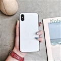 Retro Skin Casing Chrome Hearts Leather Back Covers Holster Cases For iPhone X - White