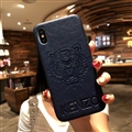 Retro Skin Casing Kenzo Leather Back Covers Holster Cases For iPhone X - Blue
