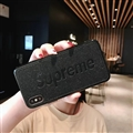 Retro Skin Casing Supreme Leather Back Covers Holster Cases For iPhone X - Black