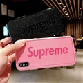 Retro Skin Casing Supreme Leather Back Covers Holster Cases For iPhone X - Pink