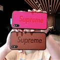 Retro Skin Casing Supreme Leather Back Covers Holster Cases For iPhone X - Rose