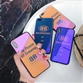 Unique Balenciaga Blue Light Mirror Surface Silicone Glass Covers Protective Back Shell For iPhone X - Orange