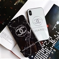 Unique Chanel Matte Hard Back Cases For iPhone X - White