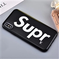 Unique LV Supreme Shell Matte Covers Protective Back Cases For iPhone X - Black