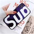 Unique LV Supreme Shell Matte Covers Skin Back Cases For iPhone X - Blue