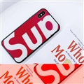 Unique LV Supreme Shell Matte Covers Skin Back Cases For iPhone X - Red