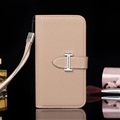 Calssic Hermes Pattern Flip Leather Cases Book Genuine Holster Cover For iPhone XR - Beige