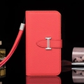 Calssic Hermes Pattern Flip Leather Cases Book Genuine Holster Cover For iPhone XR - Red