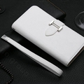 Calssic Hermes Pattern Flip Leather Cases Book Genuine Holster Cover For iPhone XR - White