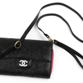 Chanel Flower Pattern Flip Leather Case Holder Wallet Universal Bag Cover for iPhone XR - Black