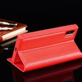 Classic LV Supreme Bracket Leather Holder Covers Support Cases For iPhone XR - Red