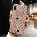 High Quality Shell Gucci Flower Leather Back Covers Button Cases For iPhone XR - Beige