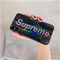 Unique LV Marble Aurora Laser Supreme Glass Covers Protective Back Cases For iPhone XR - Black