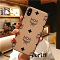 Unique Skin Casing MCM Leather Back Covers Holster Cases For iPhone XR - Beige