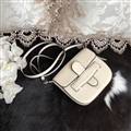 Fashion CELINE Shoulder Genuine Leather Bags Womens Crossbody Bags Ladies Hasp - White