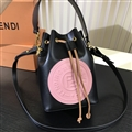 Fendi Classic Casual Fashion Lady Cowhide Womens Buckets Crossbody Top-Handle Bags - Pink