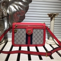 Gucci Classic Casual Fashion Party Lady Genuine Leather Real Hasp Crossbody Shoulder Bags - Red