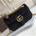 High Quality Classic Winter Gucci Casual velvet Womens Chains Fashion Hasp Bags - Black