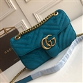 High Quality Classic Winter Gucci Casual velvet Womens Chains Fashion Hasp Bags - Blue