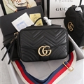 High Quality Gucci Casual Genuine Leather Womens Tassel Fashion Zipper Top-Handle Bags - Black