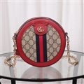 Casual Gucci Shoulder Leather Chains Bags Womens Crossbody Bags Ladies Zipper - Red