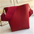 Celine Beautiful Classic Pretty Convenient Shoulder Genuine Leather Open Large Lady Bags - Red