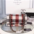 Chanel CC Winter Beautiful Classic Elegant Top-handle Linen Leather Ladies Hasp Bags - Red