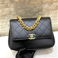 Chanel Classic CC Elegant Shoulder Genuine Leather Ladies Hasp Chains Bags - Black